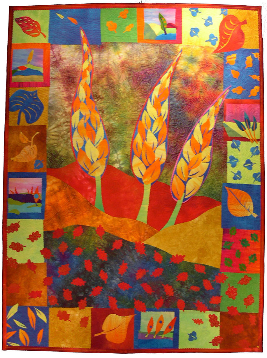 quilts commissioned gallery paradisegarden aske quilt art terry studio