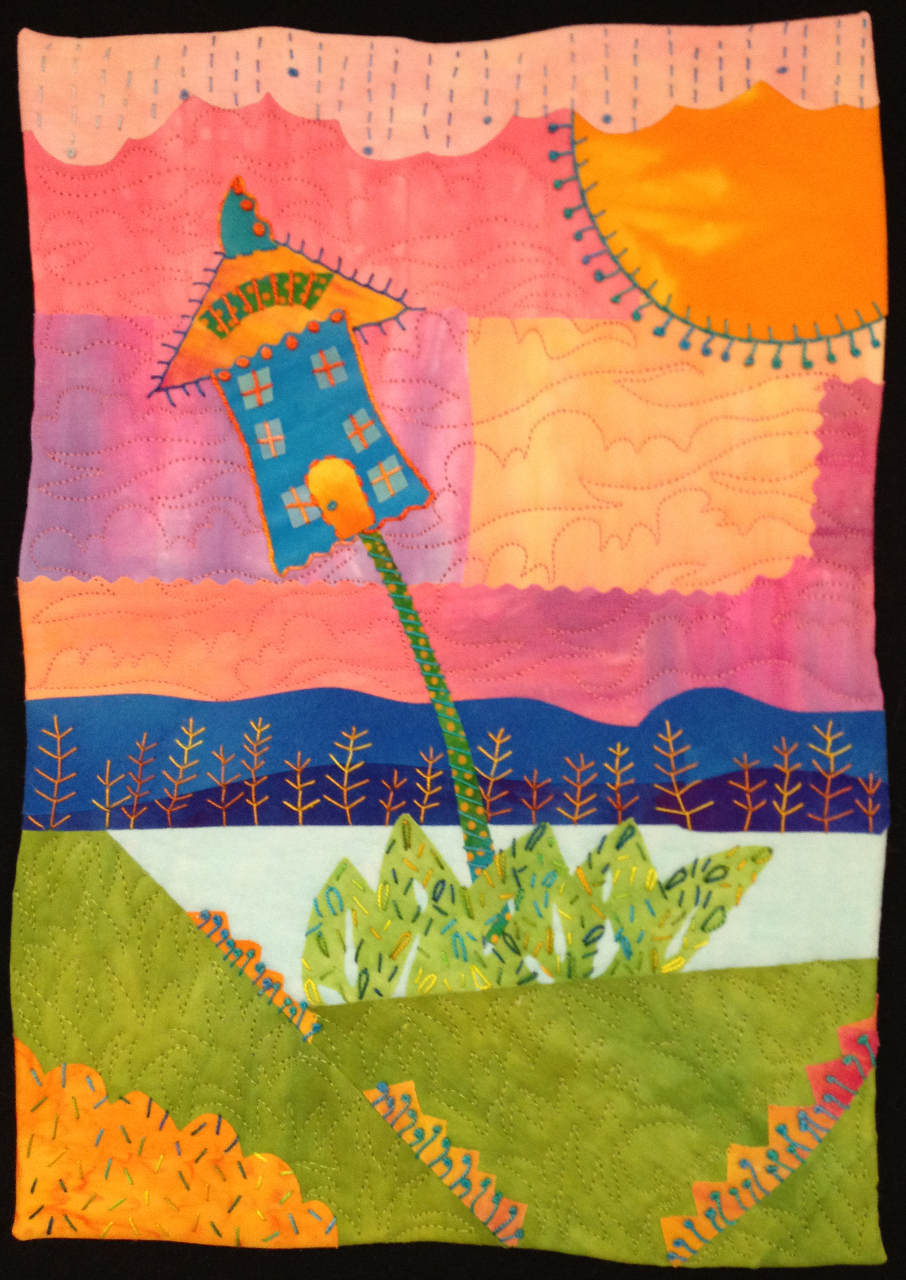 New Art Quilts By Laura Wasilowski Artfabrik